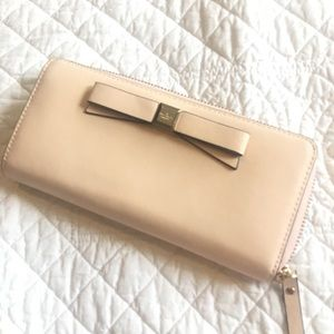 Kate Spade Blush Wallet with Bow